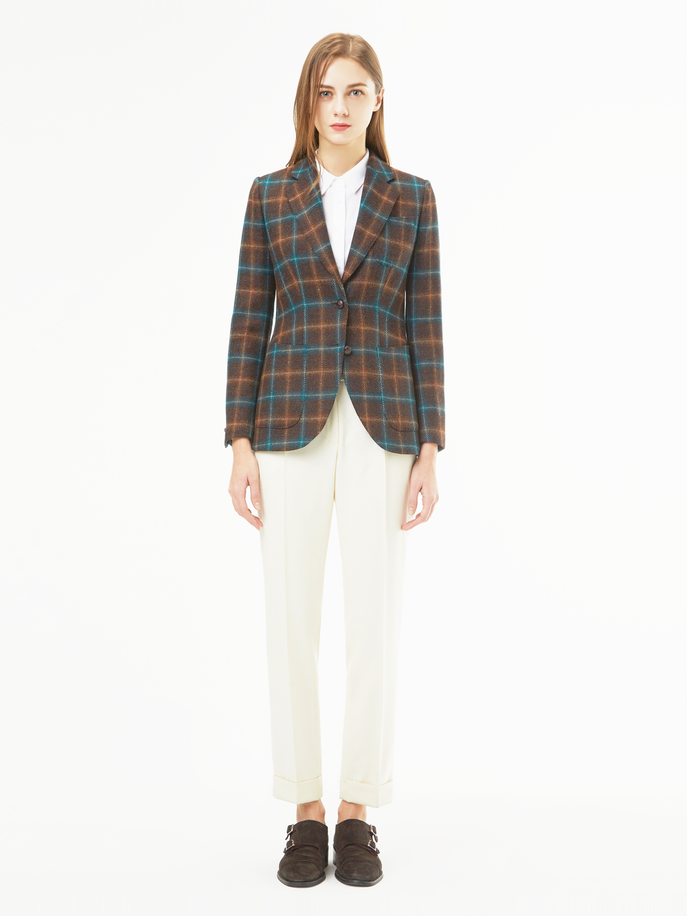 Holland&Sherry Tweed Check Jacket (브라운)